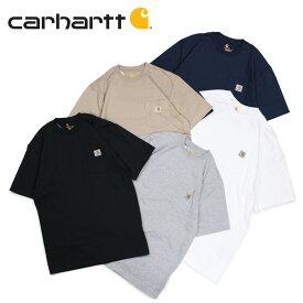 カーハート carhartt Tシャツ 半袖 メンズ ポケット ポケT WORKER POCKET S/S T-SHIRTS ブラック ホワイト グレー ネイビー ベージュ 黒 K87 [11/20 追加入荷]