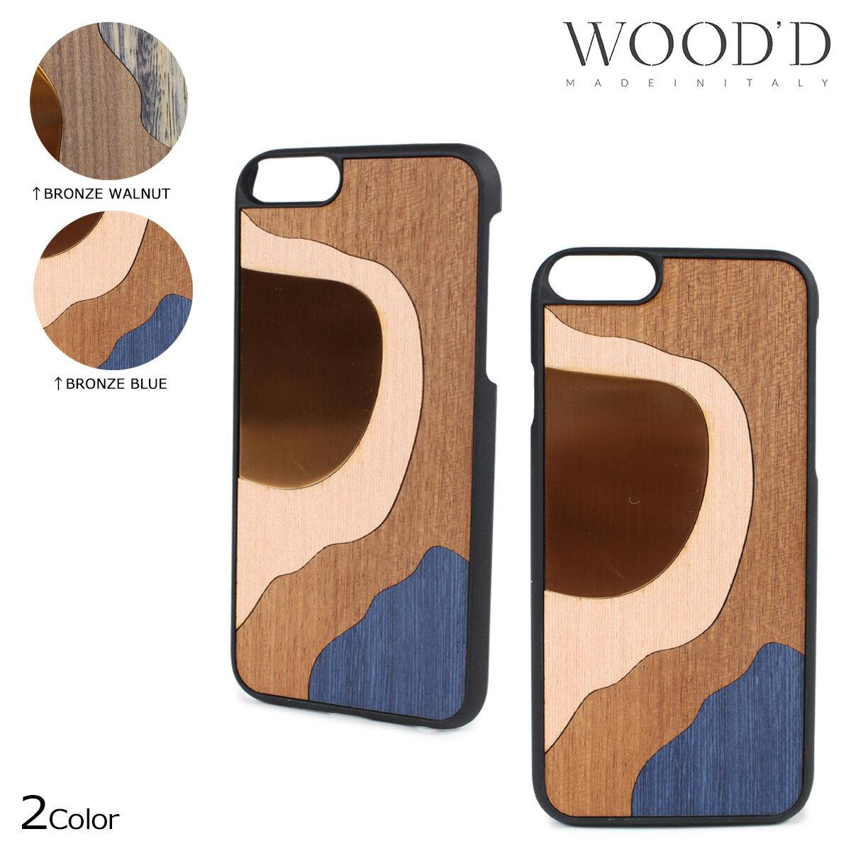 Wood'd ウッド iPhone8 iPhone7 6s ケース スマホ アイフォン ITALY INLAY 木製 メンズ レディース 【決算セール】