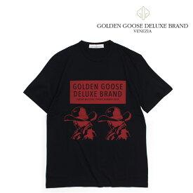 ゴールデングース Golden Goose Tシャツ メンズ 半袖 ブラック G32MP524A1