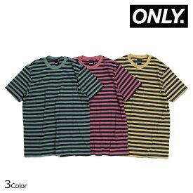 ONLY NY オンリーニューヨーク Tシャツ メンズ 半袖 ボーダー NAUTICAL STRIPE POCKET T-SHIRTS レッド グリーン イエロー