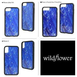 wildflowerケーススマホiPhone8XワイルドフラワーiPhoneケース76s6アイフォンレディースハンドメイドブルー[7/20新入荷]