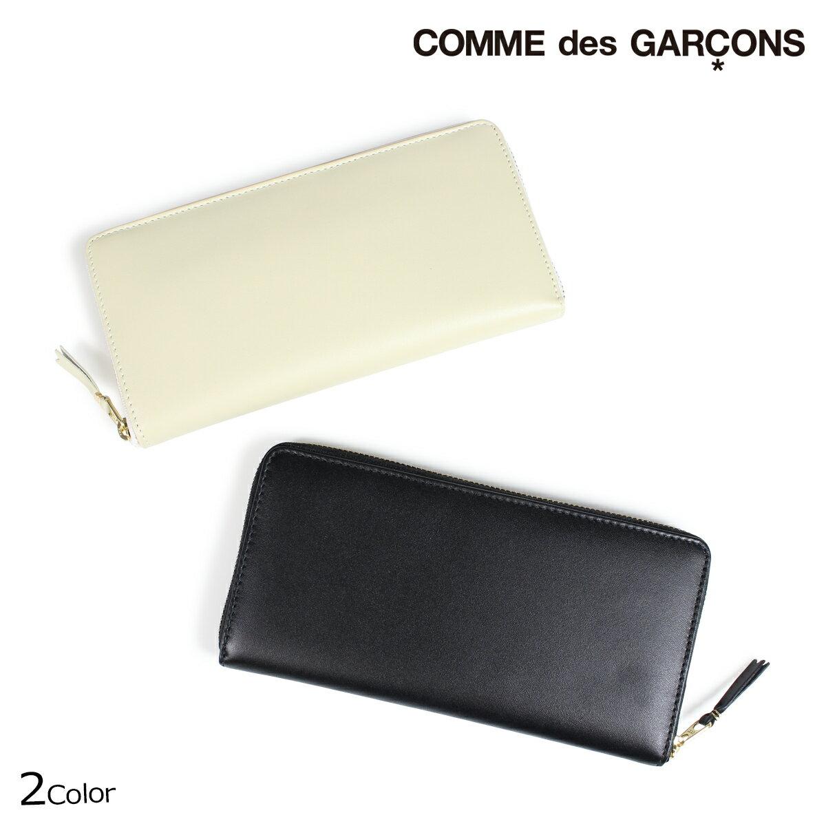 コムデギャルソン 財布 メンズ レディース 長財布 ラウンドファスナー COMME des GARCONS SA0110 ブラック オフホワイト
