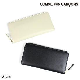 【最大2000円OFFクーポン】 コムデギャルソン COMME des GARCONS 財布 長財布 メンズ レディース ラウンドファスナー ブラック オフ ホワイト SA0110