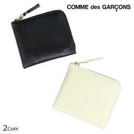 コムデギャルソン COMME des GARCONS 財布 二つ折り メンズ レディース ラウンドファスナー ブラック オフ ホワイト SA3100 [予約 12月上旬 追加入荷予定]