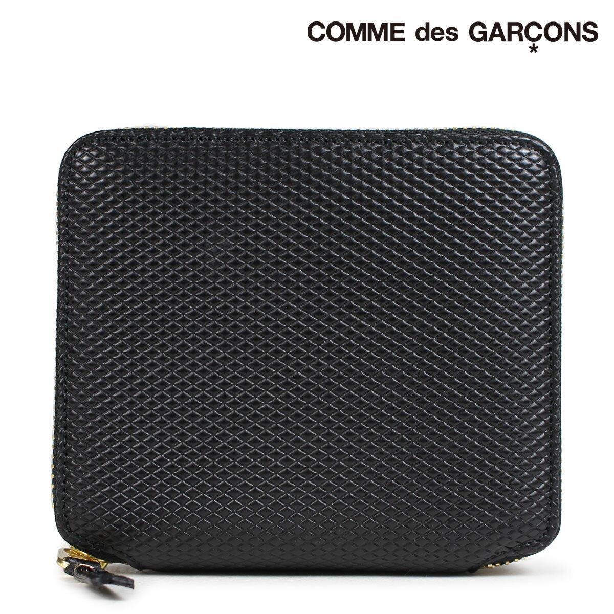 コムデギャルソン 財布 二つ折り メンズ レディース ラウンドファスナー COMME des GARCONS SA2100LG ブラック
