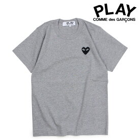 コムデギャルソン COMME des GARCONS PLAY Tシャツ 半袖 レディース BLACK HEART T-SHIRT グレー AZT075