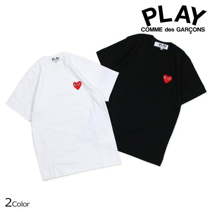 プレイ コムデギャルソン PLAY COMME des GARCONS Tシャツ 半袖 レディース RED HEART T-SHIRT ブラック ホワイト AZT107