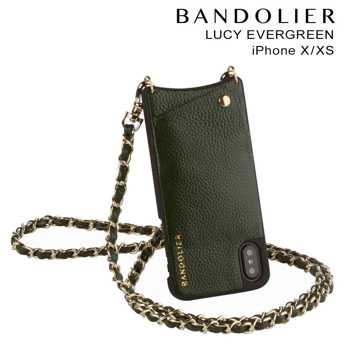 BANDOLIER バンドリヤー iPhoneXS X ケース スマホ アイフォン LUCY EVERGREEN レザー メンズ レディース