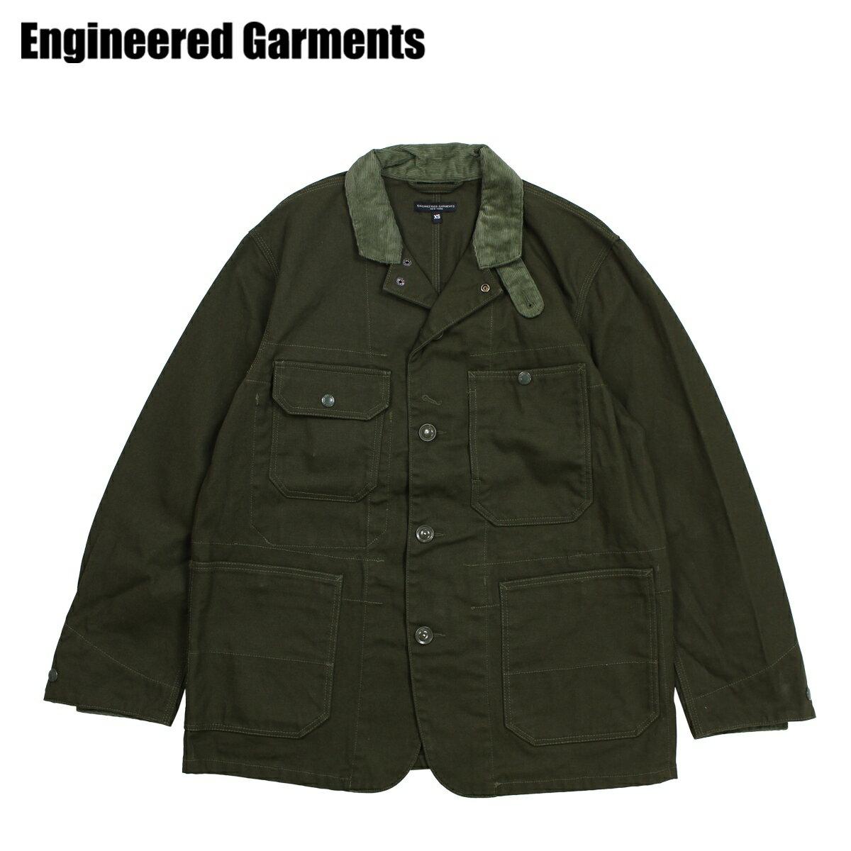 【最大2000円OFFクーポン】 エンジニアドガーメンツ ENGINEERED GARMENTS ジャケット メンズ ロング LOGGER JACKET オリーブ F8D1071