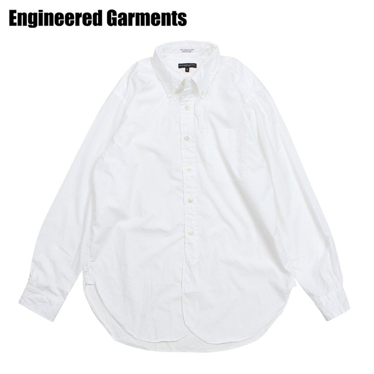 【最大2000円OFFクーポン】 エンジニアドガーメンツ ENGINEERED GARMENTS シャツ メンズ 長袖 オックスフォードシャツ 19 CENTURY BUTTON DOWN SHIRT ホワイト F8A0111
