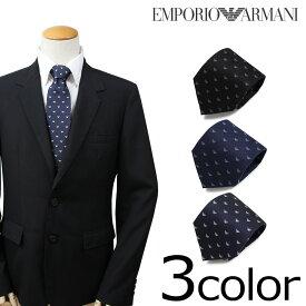 【最大2000円OFFクーポン】 エンポリオ アルマーニ EMPORIO ARMANI ネクタイ イタリア製 シルク ビジネス 結婚式 メンズ