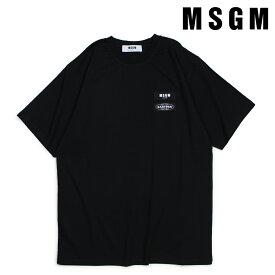MSGM エムエスジーエム Tシャツ 半袖 メンズ SHORT-SLEEVED T-SHIRT ブラック 2540MM200 184798