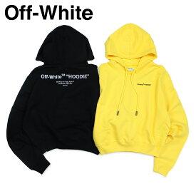 Off-white オフホワイト パーカー プルオーバー レディース スウェット FELPA STAMPA LOGO SWEATSHIRT ブラック イエロー OWBB016 003036