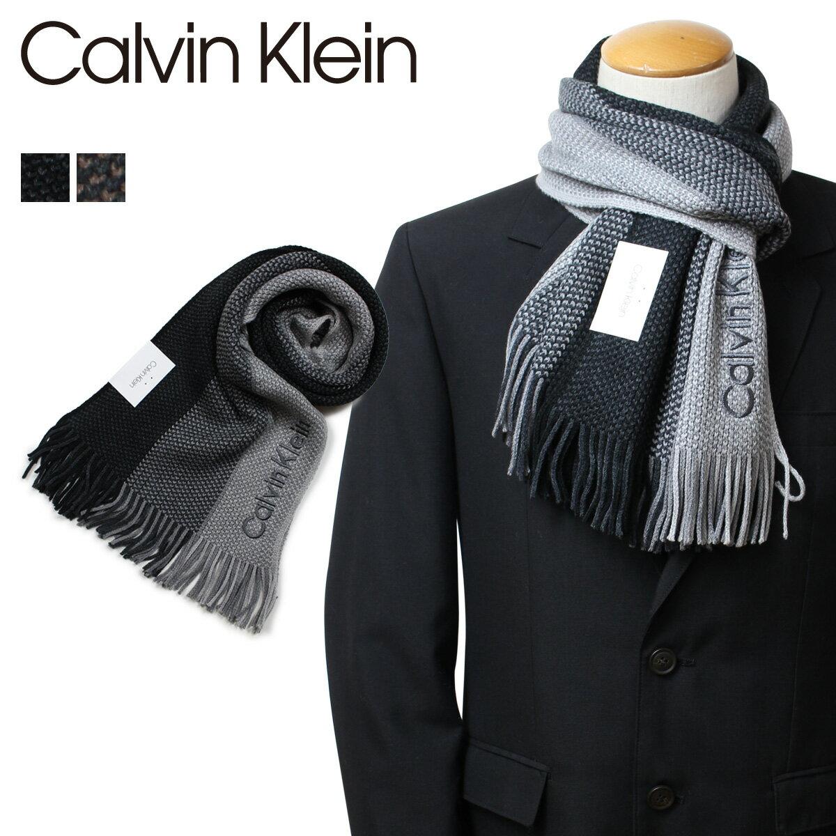カルバンクライン Calvin Klein マフラー メンズ OMBRE RASCHEL MUFF ブラック ブラウン HKC83406