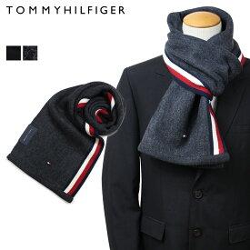 トミーヒルフィガー TOMMY HILFIGER マフラー メンズ ブラック グレー H8C73607 TH-F17-0007