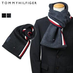 【最大2000円OFFクーポン】 トミーヒルフィガー TOMMY HILFIGER マフラー メンズ ブラック グレー H8C73607 TH-F17-0007