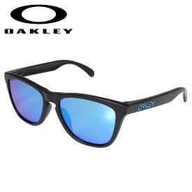 【最大2000円OFFクーポン】 オークリー Oakley サングラス フロッグスキン アジアンフィット メンズ レディース Frogskins ASIA FIT ブラック OO9245-6154