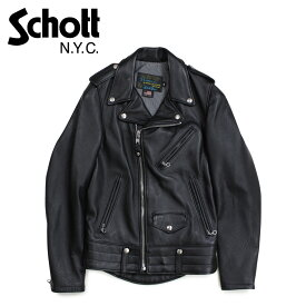 ショット Schott ジャケット ライダースジャケット メンズ MEN NATURAL PEBBLE COWHIDE MOTORCYCLE LEATHER JACKET ブラック 525