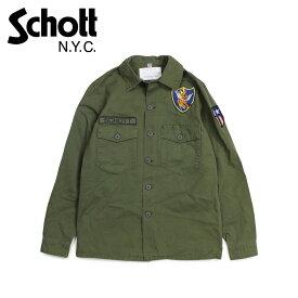ショット Schott ジャケット シャツジャケット メンズ MEN FLYING TENTH FATIGUE SHIRT オリーブ 8701
