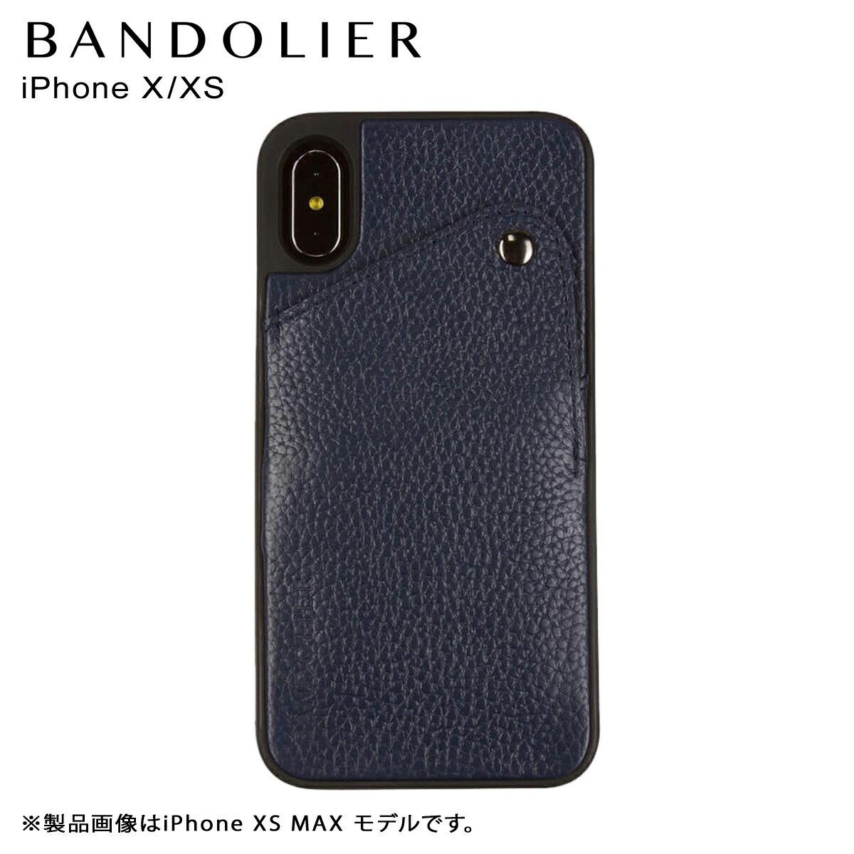BANDOLIER バンドリヤー iPhone XS X ケース スマホ アイフォン レザー ALEX NAVY メンズ レディース ネイビー