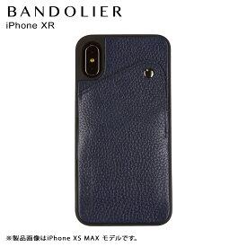 BANDOLIER バンドリヤー iPhone XR ケース スマホ 携帯 アイフォン レザー ALEX NAVY メンズ レディース ネイビー
