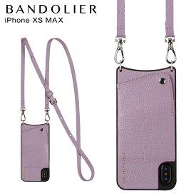 BANDOLIER バンドリヤー iPhone XS MAX ケース スマホ 携帯 ショルダー アイフォン レザー EMMA LILAC メンズ レディース ライラック 10EMM1001