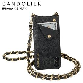 【最大2000円OFFクーポン】 BANDOLIER バンドリヤー iPhone XS MAX ケース スマホ 携帯 ショルダー アイフォン レザー LUCY GOLD メンズ レディース ブラック 10LCY1001