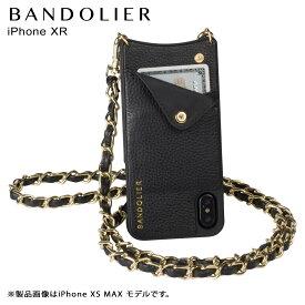 【最大2000円OFFクーポン】 BANDOLIER バンドリヤー iPhone XR ケース スマホ 携帯 ショルダー アイフォン レザー LUCY GOLD メンズ レディース ブラック 10LCY1001 [10/31 再入荷]