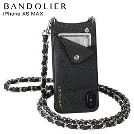 BANDOLIER バンドリヤー iPhone XS MAX ケース スマホ 携帯 ショルダー アイフォン レザー LUCY PEWTER メンズ レディース ブラック 10LCY1001