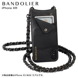 【最大2000円OFFクーポン】 BANDOLIER バンドリヤー iPhone XR ケース スマホ 携帯 ショルダー アイフォン レザー LUCY PEWTER メンズ レディース ブラック 10LCY1001