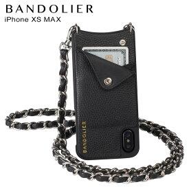 BANDOLIER バンドリヤー iPhone XS MAX ケース スマホ 携帯 ショルダー アイフォン レザー LUCY SILVER メンズ レディース ブラック 10LCY1001
