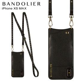 【最大2000円OFFクーポン】 BANDOLIER バンドリヤー iPhone XS MAX ケース スマホ 携帯 ショルダー アイフォン レザー NICOLE GOLD メンズ レディース ブラック 10NIC1001