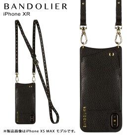 【最大2000円OFFクーポン】 BANDOLIER バンドリヤー iPhone XR ケース スマホ 携帯 ショルダー アイフォン レザー NICOLE GOLD メンズ レディース ブラック 10NIC1001