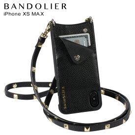 【最大2000円OFFクーポン】 BANDOLIER バンドリヤー iPhone XS MAX ケース スマホ 携帯 ショルダー アイフォン レザー SARAH GOLD メンズ レディース ブラック 10SAR1001