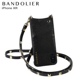 【最大2000円OFFクーポン】 BANDOLIER バンドリヤー iPhone XR ケース スマホ 携帯 ショルダー アイフォン レザー SARAH GOLD メンズ レディース ブラック 10SAR1001