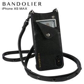 【最大2000円OFFクーポン】 BANDOLIER バンドリヤー iPhone XS MAX ケース スマホ 携帯 ショルダー アイフォン レザー SARAH BLACK メンズ レディース ブラック 10SAR1001