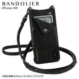 【最大2000円OFFクーポン】 BANDOLIER バンドリヤー iPhone XR ケース スマホ 携帯 ショルダー アイフォン レザー SARAH BLACK メンズ レディース ブラック 10SAR1001