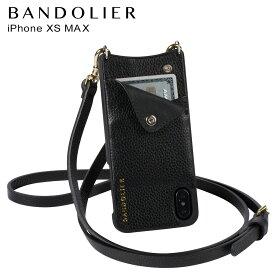 【最大2000円OFFクーポン】 BANDOLIER バンドリヤー iPhone XS MAX ケース スマホ 携帯 ショルダー アイフォン レザー EMMA GOLD メンズ レディース ブラック 10EMM1001