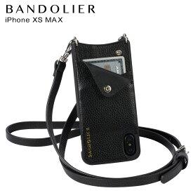 【最大2000円OFFクーポン】 BANDOLIER バンドリヤー iPhone XS MAX ケース スマホ 携帯 ショルダー アイフォン レザー EMMA SILVER メンズ レディース ブラック 10EMM1001