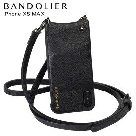 【最大2000円OFFクーポン】 BANDOLIER バンドリヤー iPhone XS MAX ケース スマホ 携帯 ショルダー アイフォン レザー EMMA PEWTER メンズ レディース ブラック 10EMM1001