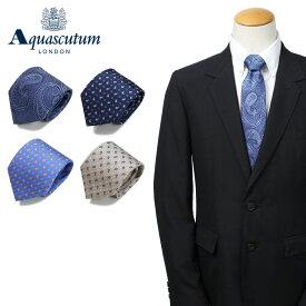 アクアスキュータム AQUASCUTUM ネクタイ メンズ イタリア製 シルク ビジネス 結婚式