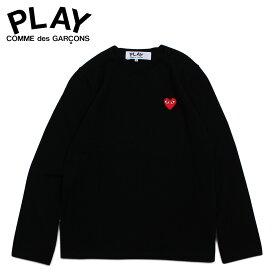 コムデギャルソン COMME des GARCONS PLAY ニット セーター メンズ RED HEART CREW NECK SWEATER ブラック 黒 AZ-N068