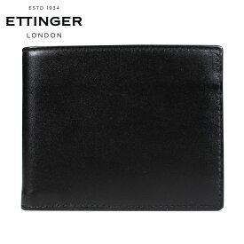 エッティンガー ETTINGER 財布 二つ折り メンズ レザー BILLFOLD WALLET WITH CARD CASE ブラック 黒 ST030CJR