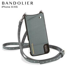【最大2000円OFFクーポン】 BANDOLIER バンドリヤー iPhone XS X ケース スマホ アイフォン レザー NICOLE STORM メンズ レディース ブルーグレー 10NIC