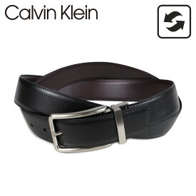 【最大2000円OFFクーポン】 カルバンクライン Calvin Klein ベルト レザーベルト メンズ 本革 リバーシブル 32MM REVERSIBLE BELT ブラック ブラウン 黒 75661 [5/7 再入荷]
