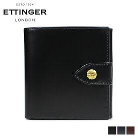 エッティンガー ETTINGER 財布 二つ折り メンズ レザー LARGE BILLFOLD PURSE ブラック ネイビー ブラウン 黒 BH178JR [6/5 新入荷]