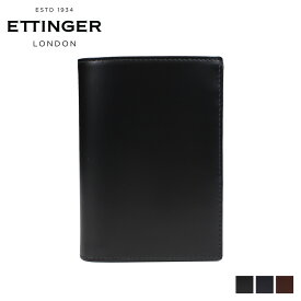 エッティンガー ETTINGER 財布 二つ折り メンズ レザー PURSE NOTECASE WITH 4 CC SLOTS ブラック ネイビー ブラウン 黒 BH179JR [6/5 新入荷]