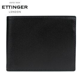 エッティンガー ETTINGER 財布 二つ折り メンズ レザー STERLING BILLFOLD WITH 3 C/C & PURSE ブラック 黒 ST141JR