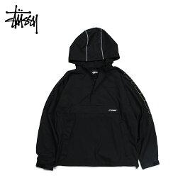 ステューシー STUSSY ジャケット プルオーバージャケット メンズ ALPINE PULLOVER ブラック 黒 115419