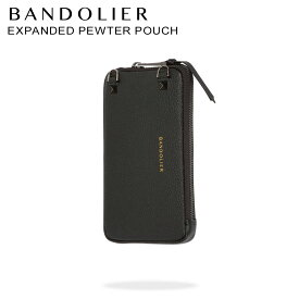 BANDOLIER バンドリヤー ケース ポーチ スマホ 携帯 レザー EXPANDED PEWTER POUCH メンズ レディース ブラック 黒 21GRA [8/9 新入荷]
